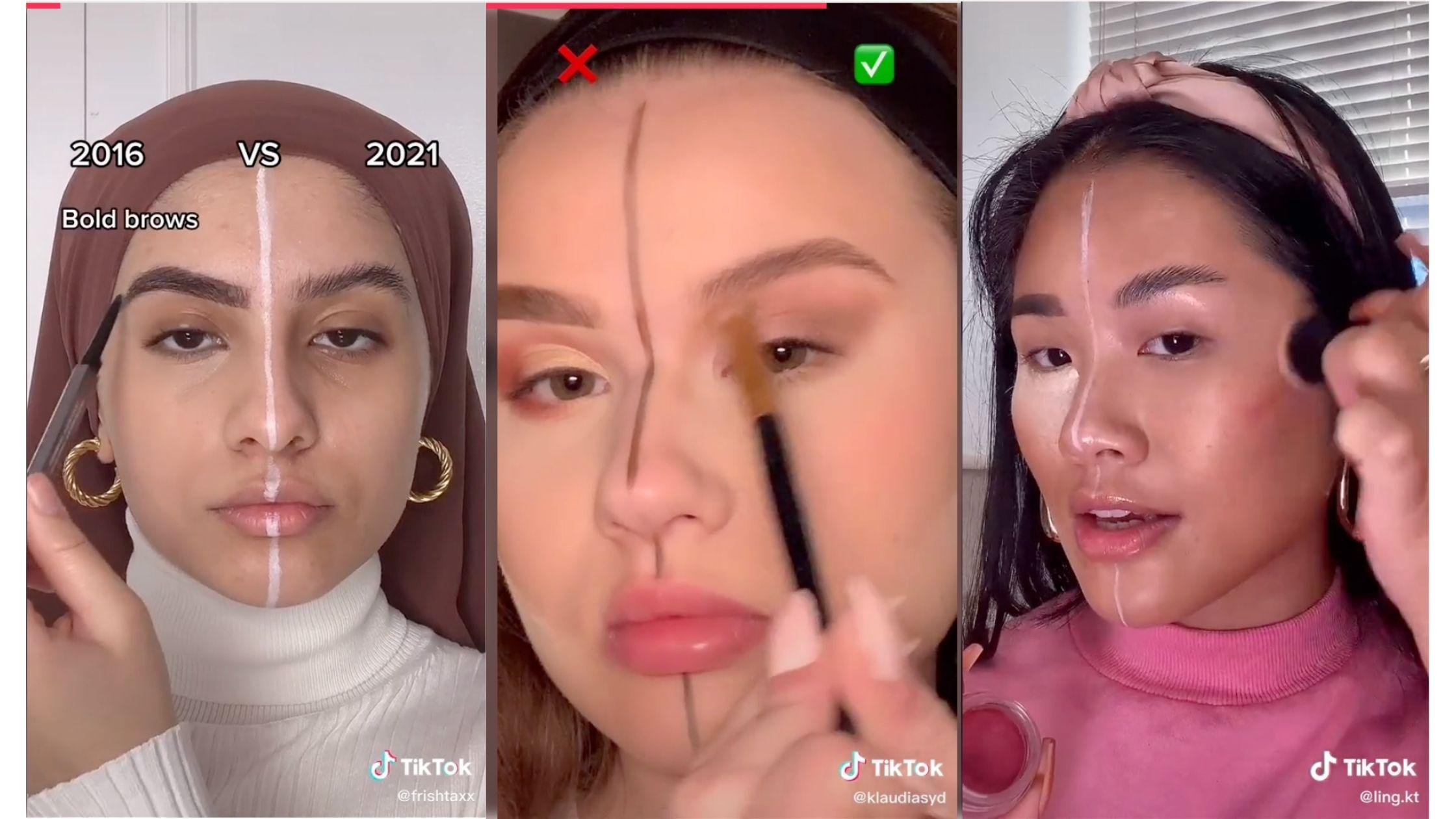 2016 vs 2021, The Makeup Challenge Taking Over Tiktok